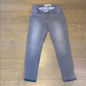 Gray maternity skinny ankle jeans, size small